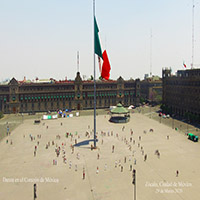 Danza por México (2). Permiso a los 4 rumbos danzando.