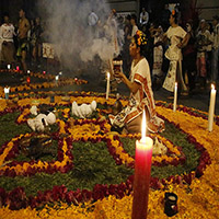 Miccailhuitl. Festividad de Muertos.
